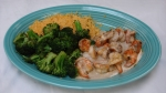 Camarones Vallarta - Grilled shrimp topped with mushrooms and cheese sauce. Served with rice and broccoli.